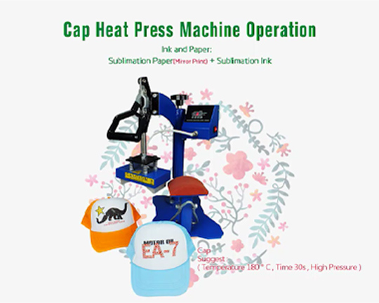 Cap heat press machine XY-031B